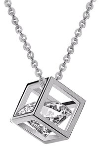 Fine Jewelry Vault CZ Cubic Locket Latest Designs Pendant in White Hue