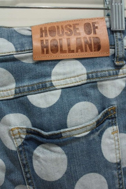 House of Holland Designer Skinny Jeans-Light Wash