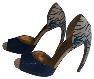 Walter Steiger Blue and white Pumps