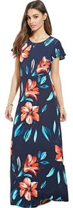 Navy floral Maxi Dress by Forever 21