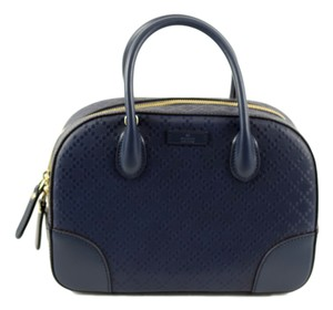 Gucci Top Handle 354224 Crossbody Tote in Navy Blue