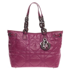 Dior Canvas Tote in Magenta Pink