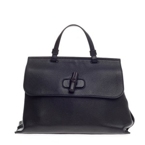 Gucci Leather Satchel in Black