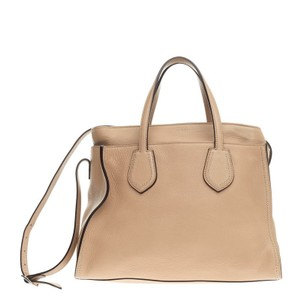 Gucci Leather Tote in Nude