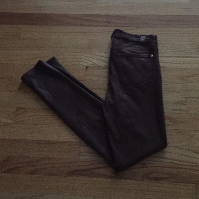 Item - Brown Faux Sueded Leather Skinny Jeans Size 26 (2, XS)