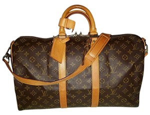 Louis Vuitton Keepall Travel Carry-on Brown Travel Bag