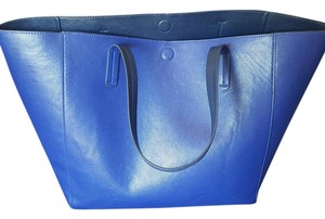 Merona Reversible Non-leather Magnetic Closure Tote in Cobalt Blue/Navy