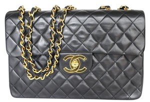 Chanel Lambskin Xl Maxi Xl Flap Shoulder Bag