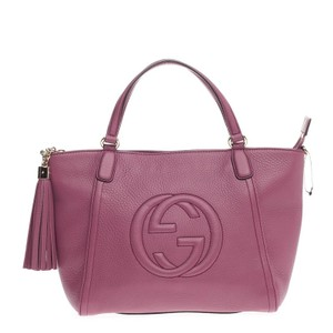 Gucci Leather Tote in Peonia Mauve