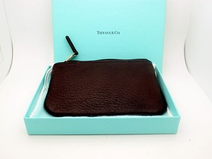 Tiffany & Co. Tiffany Black Leather Coin Purse Wallet