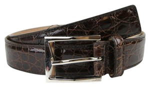 Gucci Crocodile Classic Square Buckle Belt 105/42 223901 2140 e720n