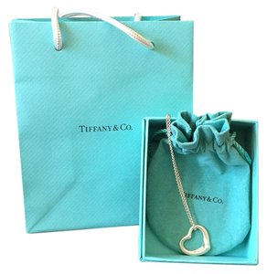 Tiffany & Co. Elsa Peretti Open Heart Pendant & Tiffany & Co. 16 inch Chain