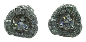 Other 18 K White Gold Stud Earrings With Diamonds