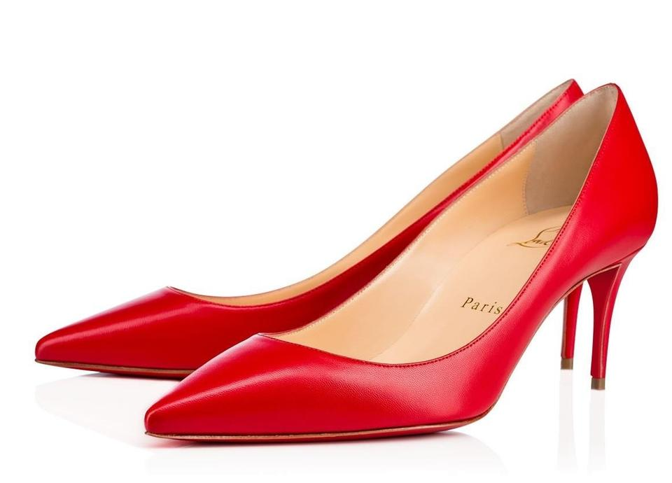 Christian Louboutin Red Decollete Decollete Red 70 Pumps 417995
