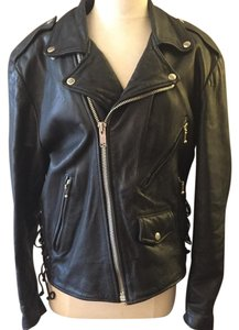 Wilsons Leather Thinsulate Wilsons Motorcycle Vintage Insulated Black Jacket