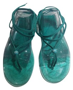See by Chloé Rubber Green Sandals