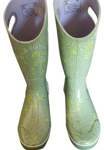 Bogs Rubber Rainboot New Floral Green Boots