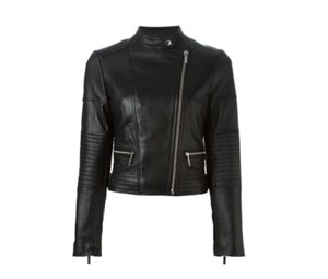 MICHAEL Michael Kors Leather Lambskin Moto Quilted Black Jacket