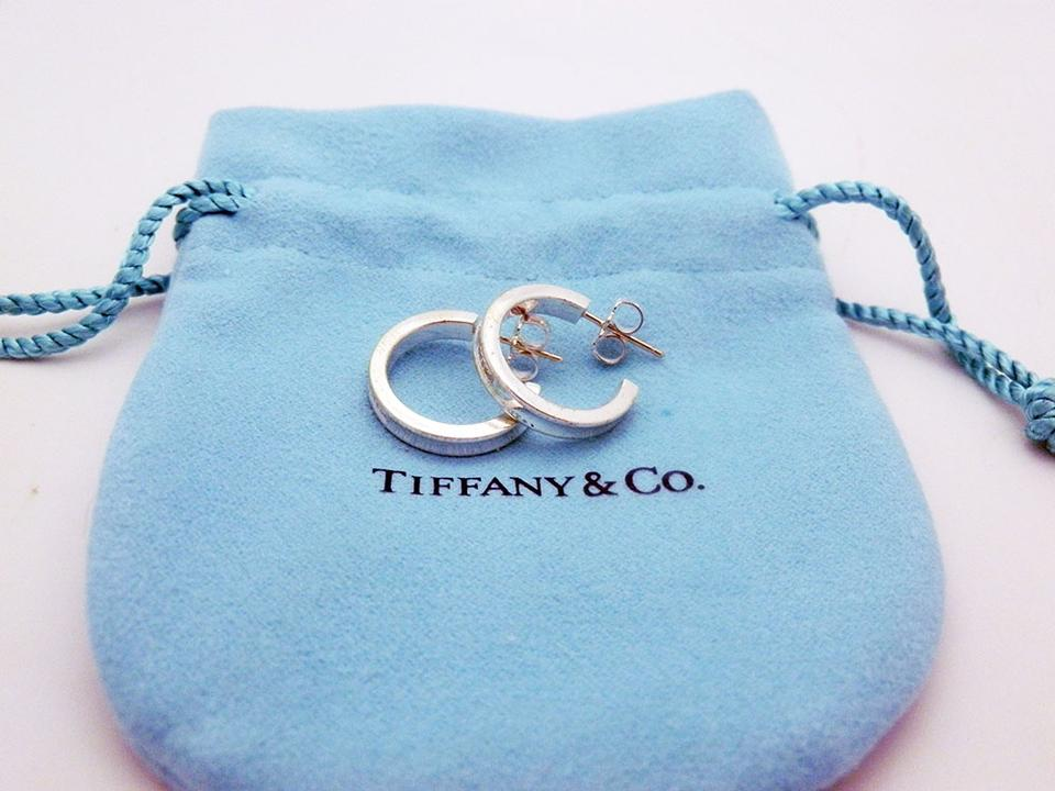 ceb0e232c Tiffany & Co. Tiffany 1837 Small Thin Hoop Earrings in Sterling Silver 925  Image 0 ...