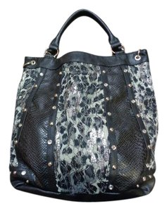 Maurices Animal Print Lace Tote in Black