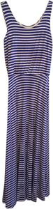 Blue and white striped Maxi Dress by Renee C.