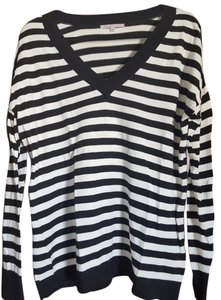 Gap V Neck Striped Sweater