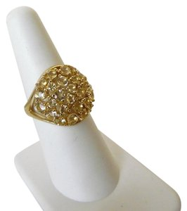Technibond Technibond Bold Round Yellow Citirne Cluster Ring
