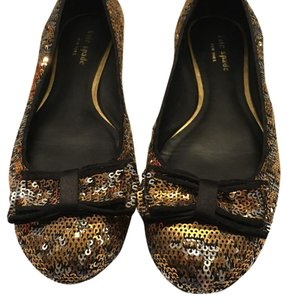 Kate Spade Gold and silver Flats