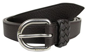 6e22b612072 Gucci Dark Brown Leather Wrap Belt with Orval Buckle 100 40 336828 2140