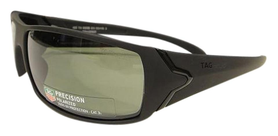5ada3d1832 TAG Heuer Black 9205 Racer 911   Green Polarized Sunglasses - Tradesy