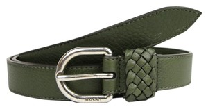 Gucci Green Leather Wrap Belt with Orval Buckle 105/42 336828 3319
