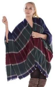 JTC FREE SHIPPING Winter Reversible Oversized Blanket Poncho JP434