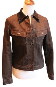 Ralph Lauren Jean Never Worn Lauren Jeans Company Corduroy Collar Denim Brown Womens Jean Jacket