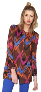 Harlyn Women Vintage Chevron Womens Mauve Multi Jacket