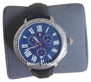 Michele ## FLASH SALE## NWT SEREIN CHRONO DIAL BLUE MOP DIAMOND MWW21A000048