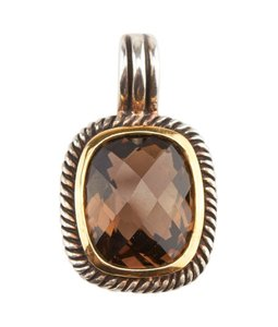 Sterling, Silver, And, Citrine, 10mm, Pendant, 78087