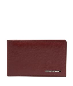 Burberry Burberry, Military, Red, Saffiano, Leather, Id, Card Holder