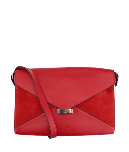 Céline Celine Leather Suede Shoulder Bag