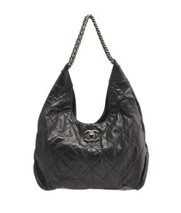 Chanel Quilted Leather Hobo Bag