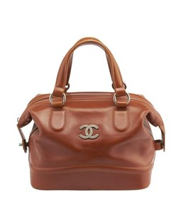 Chanel Leather Doctor Satchel in Brown
