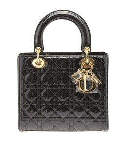 Dior Christian Lady Satchel in Black