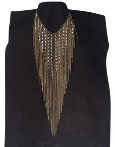 Natasha Couture STATEMENT NECKLACE RHINESTONES AND CHAINS - adjustable length NEW