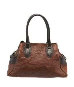 Fendi 8bn162 Etniko Satchel in Brown