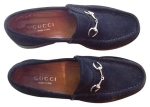 Gucci black suede loafer Flats