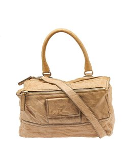 Givenchy Pandora Tan Leather Shoulder Bag