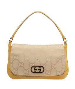 Gucci Yellow Gg Canvas Shoulder Bag