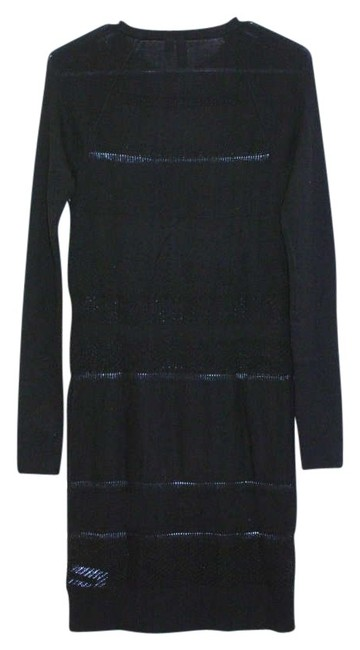 Edun short dress black Lacestitch Sweater Longsleeve Designer Bodycon on Tradesy