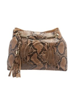 Gucci Soho Python Tote in Brown