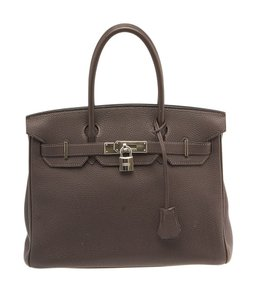 Hermès Hermes Birkin 30 Cacao Togo Satchel in Brown