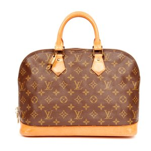 Louis Vuitton Monogram Canvas Leather Alma Satchel in Brown